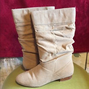Shoes - Free- Boot SOCK-Beige suede like boots